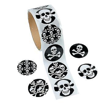 100 Pirate Skull & Crossbones Stickers for Kids | Skull & Crossbones Crafts