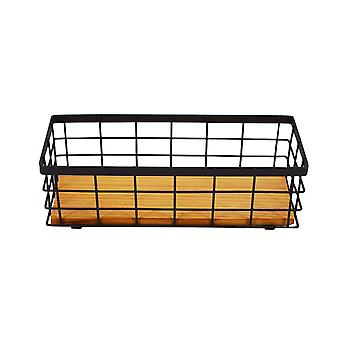 Iron square storage basket