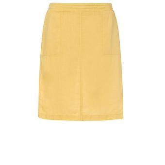 Olsen Yellow Linen Skirt