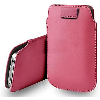 Apple iPhone 11 Pro Baby Pink XXLarge Slip In Pull Tab Faux Leather Phone Case