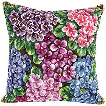 Panna Cross Stitch Cushion Front Kit : Violets