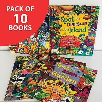 Spot the... pack of 10 books  Packed with things to spot and facts to discover by QED Publishing