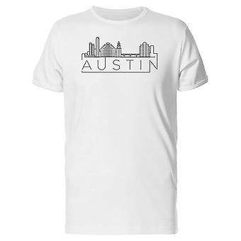 Austin geometriske Skyline Tee menn-bilde av Shutterstock