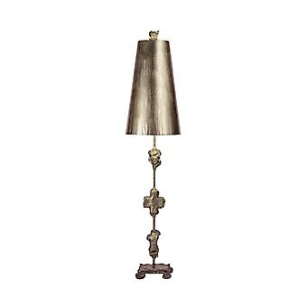 Fragment Lamp, Silver, With Lampshade