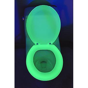 Glød i mørke toalett sete lys bad toalett sete lyse prank