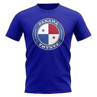 Panama Football Badge T-Shirt (Royal)