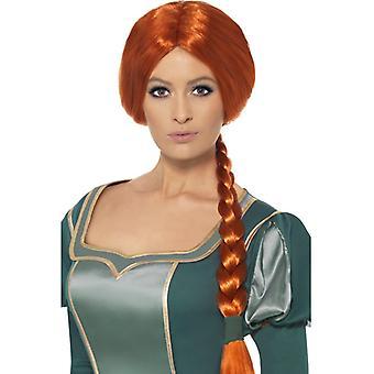 Shrek Fiona parochňa červená longhair Shrek princezná kostým