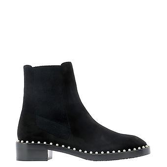 Stuart Weitzman Clinesueblk Women's Black Suede Ankle Boots