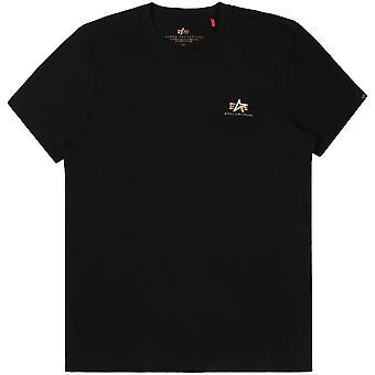 Alpha Industries T-Shirt homme Basic Small Logo Foil Imprimer