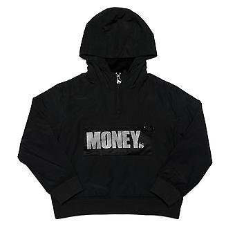 Boy's Money Junior Micro Fleece Windcheater Jacket in Black