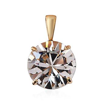 KARIS Solitaire Made with Swarovski Crystal Pendant ION Over 18K Gold Bond Brass