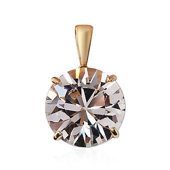 KARIS Solitaire Gemaakt met Swarovski Crystal Hanger ION Over 18K Gold Bond Brass