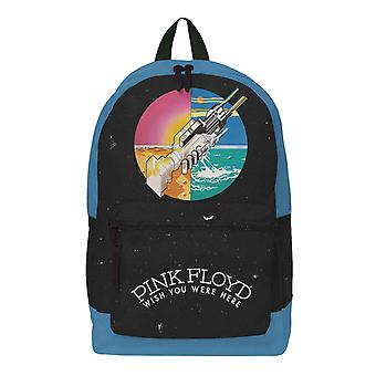 Pink Floyd Backpack Bag Wish you were Here Colour Logo Official Rocksax Black
