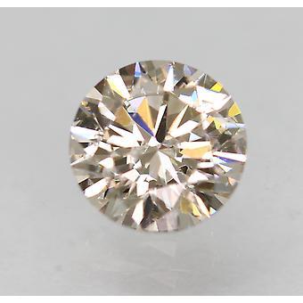 Cert 0.73 Carat Top Light Brown VS2 Round Brilliant Natural Diamond 5.76mm 3EX