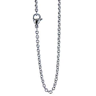 Simple chain 2 mm - silver - stainless steel