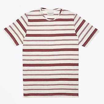 Oliver Spencer  - Conduit Marl Stripe T-shirt - Pink