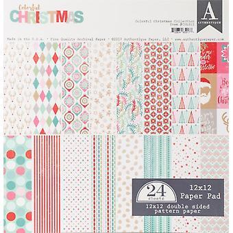 Authentique 12x12 Paper Pad Colorful Christmas