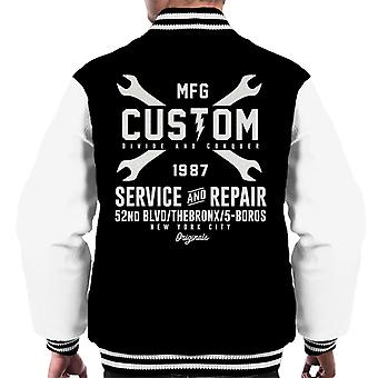 Divide & Conquer Custom Service And Repair Men's Varsity Jacket