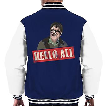 Friday Night Dinner Jim Hello All Men's Varsity Jacket