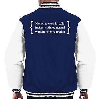 Work From Home Routine Men's Varsity Jacket