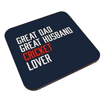 Great Dad Great Husband Cricket Lover Coaster