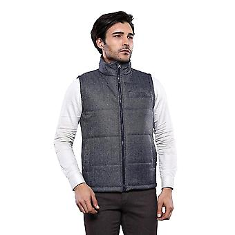 Two-sided navy blue waistcoat | wessi