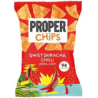 Proper Chips Sweet Sriracha Chilli Lentil Chips