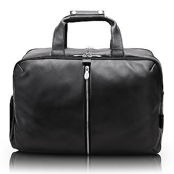 "18905, U Series, Avondale 22"" Leather, Triple Compartment, Carry-All, Travel, Laptop Duffel - Black"