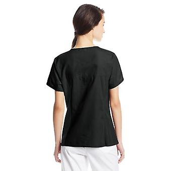 Cherokee Women's V Neck Scrubs Shirt, Black, X-Small