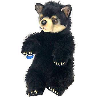 Plush - Hansa - Black Bear Cub Cuddly 13.5