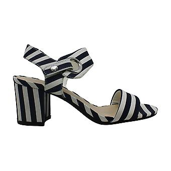 Bar III Birdie City Two-Piece Block-Heel Sandals Navy Size 6M