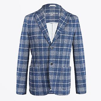 Circolo 1901  - Soft Check Summer Blazer - Blue/White