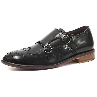 London Brogues Lincoln Monk Mens Leather Brogue Shoes  AND COLOURS