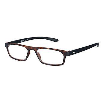 Óculos de leitura Unisex Duo havanna preto/marrom +1,00 (le-0182B)
