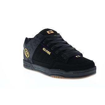 Globe Tilt Mens Black Nubuck Leren Veter van Skate Sneakers Schoenen
