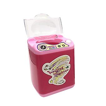 Mini Electric Makeup Brush Cleaner Washing Machine Dollhouse Toy