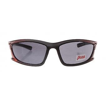 sportzonnebril unisex zwart/bruin met grijze lens