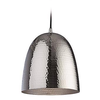 1 Light Dome Plafondhanger Nikkel, Matt Nickel Inside, E27