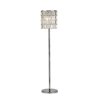 Inspirerad Diyas - Torre - Kristallgardin Golvlampa 5 Ljuspolerad Krom