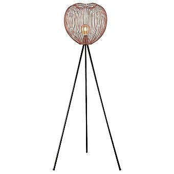 1 Lámpara de Pie Ligera Cobre, E27
