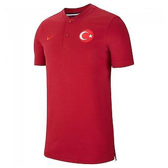 2020-2021 Tyrkia Autentisk Polo Skjorte (Rød)