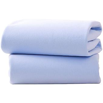 Clair de Lune Pack Of 2 Fitted Moses Basket Sheets
