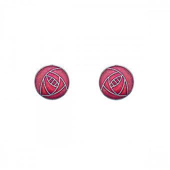 Sea Gems Mackintosh Small Rose Stud Earrings - Red 7670r
