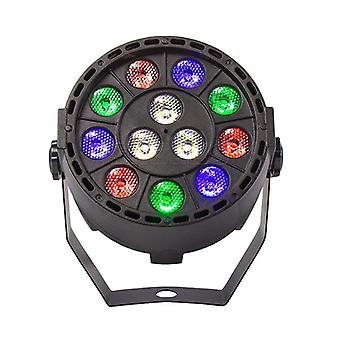 Wireless, Remote Control Rgbw, Uv Disco, 12 Led Stage Lighting Effect Light