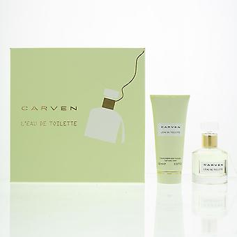 Carven L'Eau de Toilette 50ml & Light Body Cream 100ml Gift Set For Her - NEW.