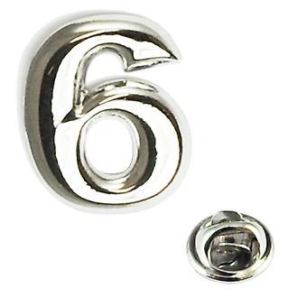 Insignia de pin de solapa Número 6