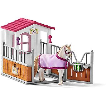 Schleich horse stall with Lusitano mare play set for children over 3 years old