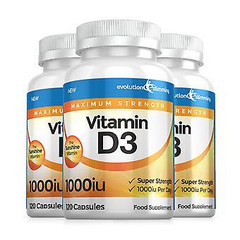 Vitamine D D3 1.000 IU Soft Gel Capsules - 360 Soft Gel Capsules - Vitamine Supplement - Evolution Slimming