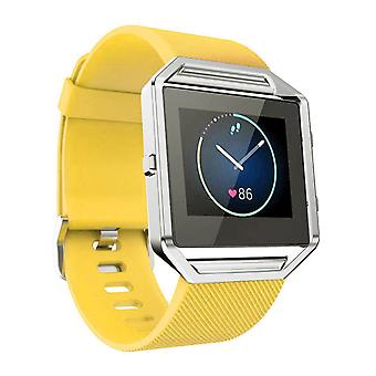 Hellfire Trading Replacement Wristband Bracelet Band Strap for Fitbit Blaze[Yellow,Large]