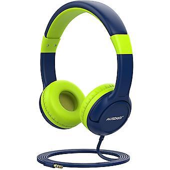 Ausdom K1 Kids hörlurar musikdelning 85dB volym begränsad